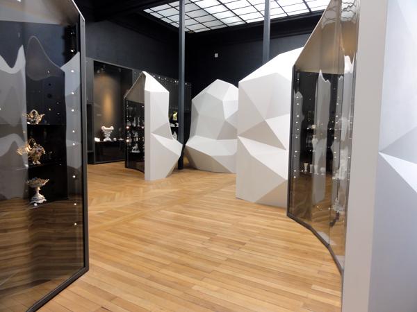 Les vitrines Conque des salles Porcelaine de Limoges au musée national de la porcelaine Adrien Dubouché à Limoges